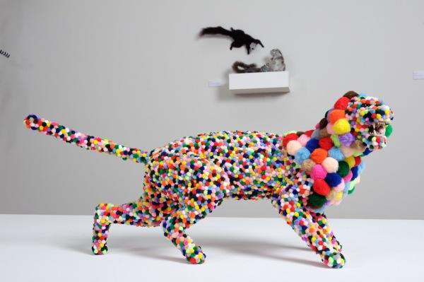 Тигр - часть инсталляции животных Троя