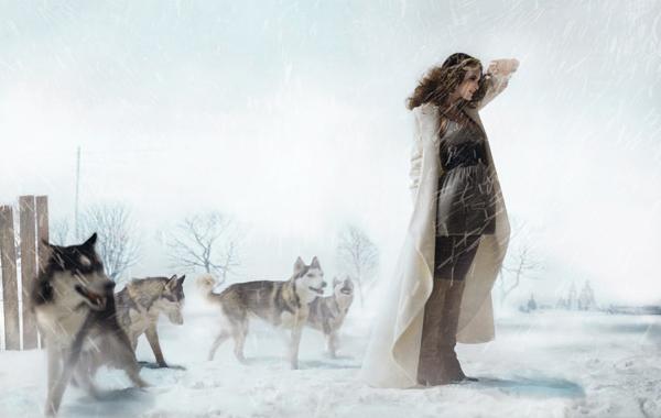 Самый необычный fashion-фотограф современности Eugenio Recuenco: девушка и волки
