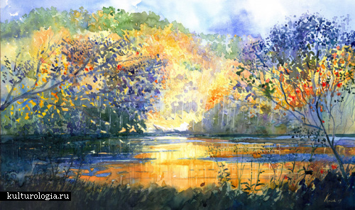 Простота и красота пейзажа акварелью от Джорджа Косински (George Kosinski)