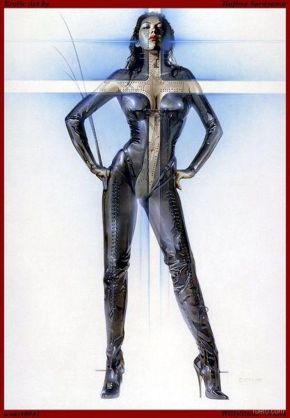 Героини  пин-апа от Hajime Sorayama: садо-мазо эстетика