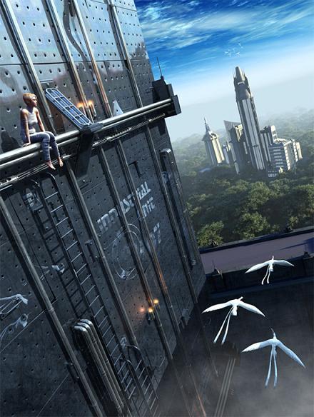 Города будущего: концепт-арт в стиле футуризма от разных художников