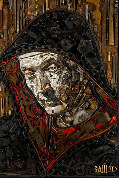 Jason Mecier и портреты знаменитостей, сделанные из всего, что под руку попадется