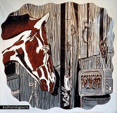Поиск ответов на важные вопросы в картинах из изоленты  Joe Girandola