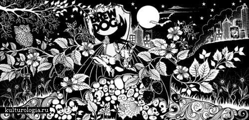 Черно-белая страна чудес Джоанны Басфорд (Johanna Basford)