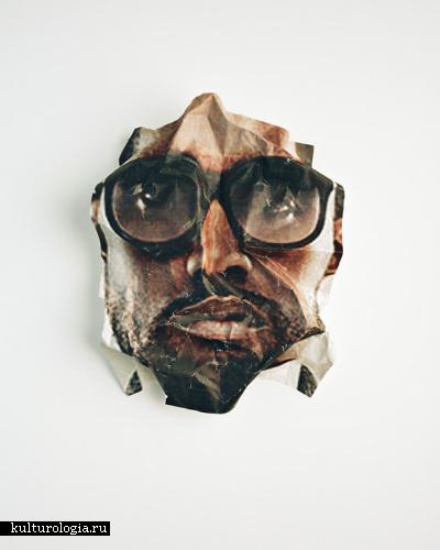 Поп-лица от  Joshua Scott: фотографии смятых фотографий