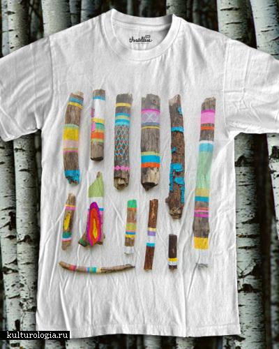 Разрисованные палки и другие красочные работы от Ginette Lapalme