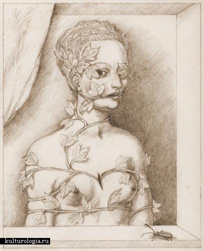 Техника Эпохи Возрождения, тематика постмодернизма: картины  Madeline von Foerster