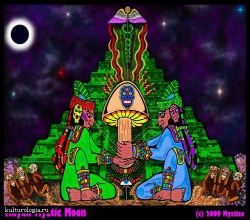 Древние культуры и другие измерения в картинах Myztico
