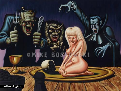 Это страшно и смешно: рисунки в стиле horror от Майка Сосновски (Mike Sosnowski)