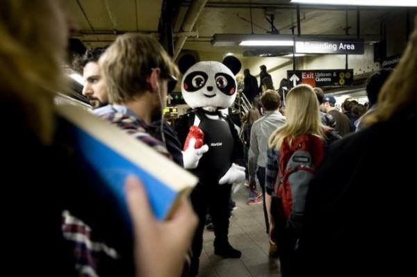Огромная панда бросает вызов обществу!