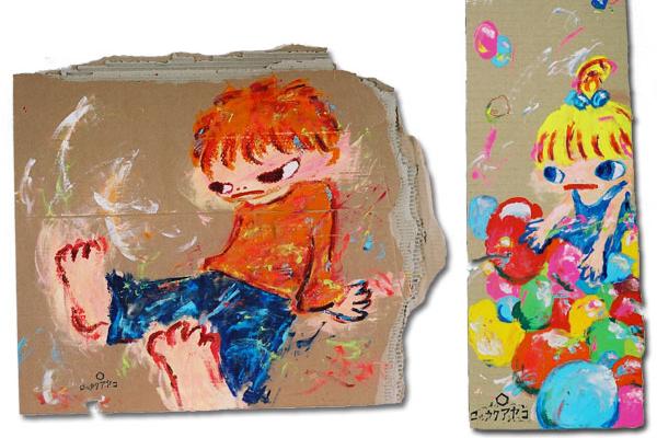 Ayako Rokkaku и ее яркие рисунки на картоне