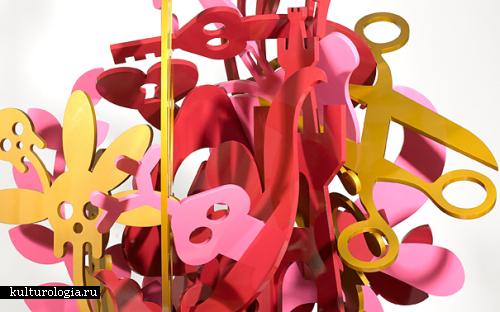 Мелкие детали в ярких картинах, скульптурах и инсталляциях Райана МакГиннеса (Ryan McGinness)