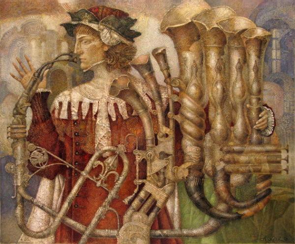 Картинах Александра Сигова: менестрель