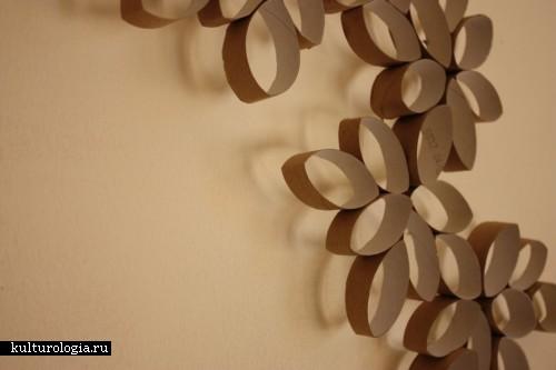 Цветы из картонных втулок от туалетной бумаги от Tali Buchler
