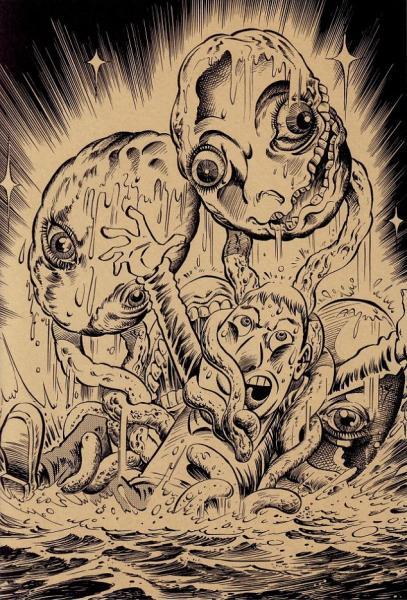 В каждой работе Tatsuya Morino есть что-то от карикатур