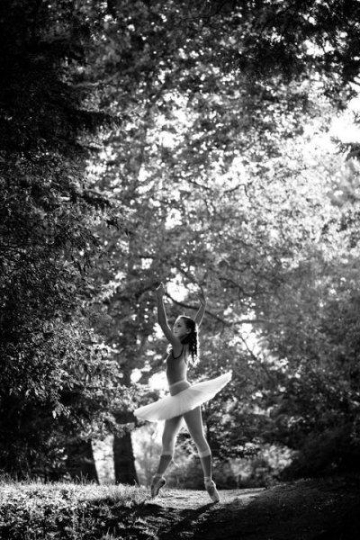 Балерина на лоне природы