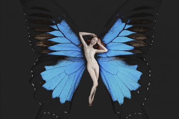 """Проект """"Психея"""": нежные девушки в образе удивительных бабочек"""