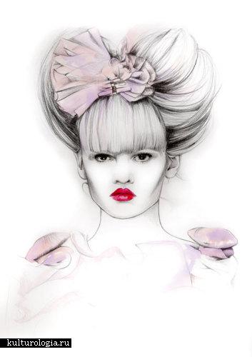 Высокая мода в иллюстрациях от Caroline Andrieu.