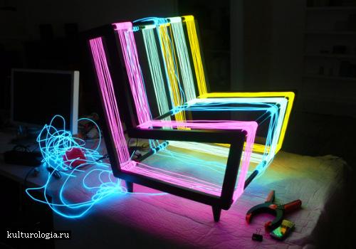 Необычная скульптура в стиле hi-tech: Disko-стул от  Kiwi&Pom.