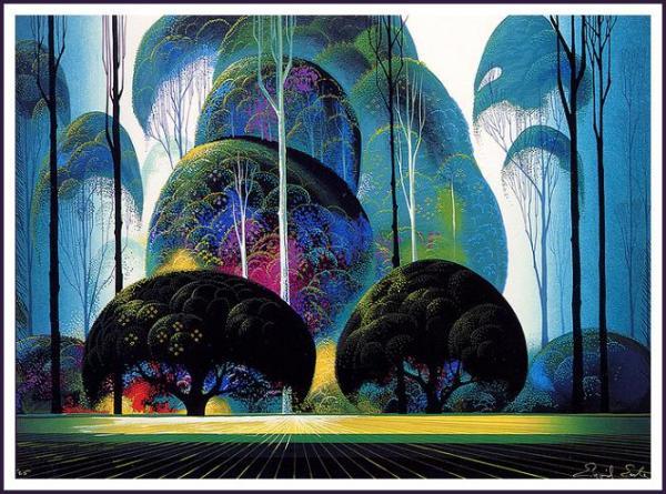 Сказочный лес в сумерках
