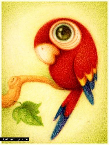 Зверушки от faboarts: Попугай: предпросмотр.