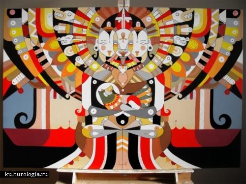 Абстракция с элементами психоделики в рисунках Fernando Chamarelli.