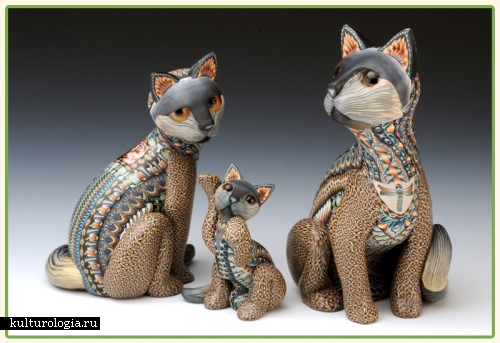 Скульптуры из пластики Fimo от Jon Stuart Anderson.