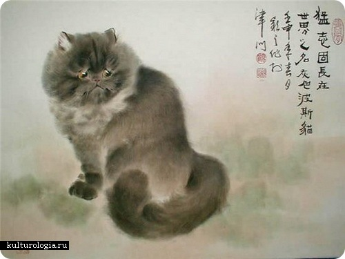 Теплые коты от Gu Yingzhi.