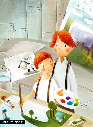 Милые рисунки корейского художника Jangjun.
