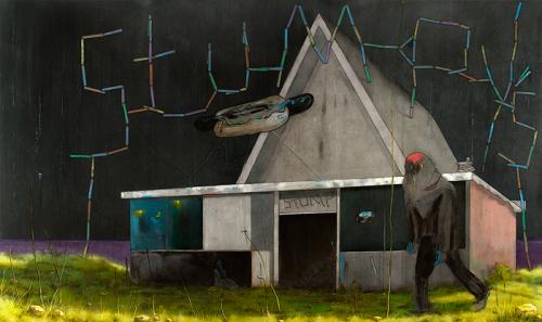 Ночная жизнь от британского художника Nigel Cooke.