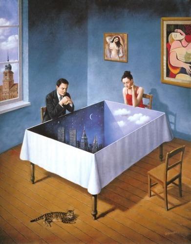 Волшебный мир воображения Rafal Olbinski.