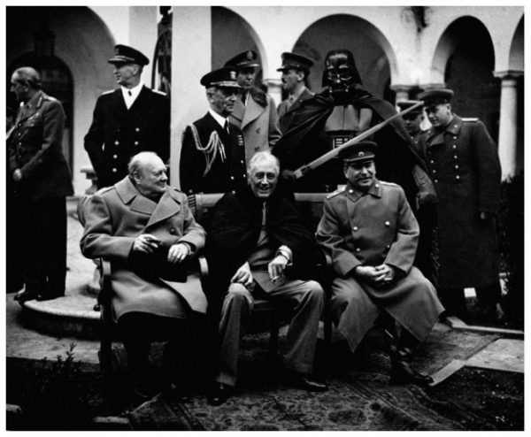 Сталин-Рузвельт-Черчилль-Дарт Вейдер