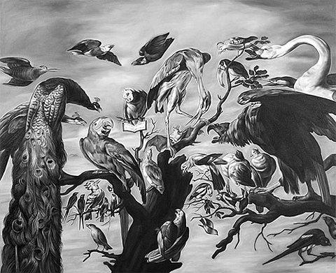 Черно-белые ремейки старинных картин от Shelley Reed