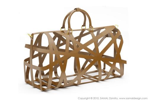 Дорожная сумка для Louis Vuitton, сделанная из кожи и золота. Dzmitry Samal