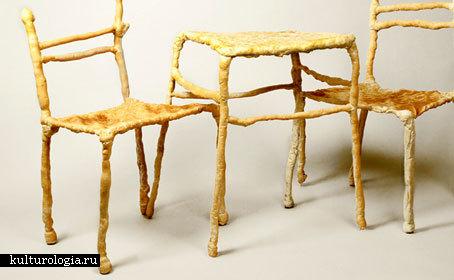 Мебель из хлеба «Panpaati».