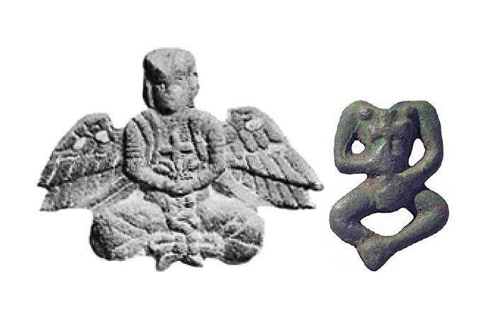 Ангел с надгробия из даосского монастыря в Цюаньчжоу и артефакт найденный в Одесской области.