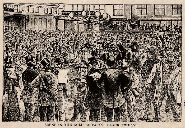 Черная пятница. Иллюстрация 1892 года.