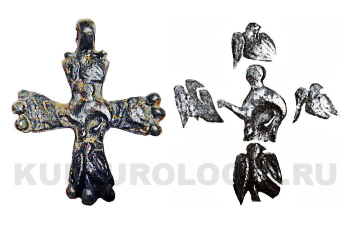 Изображения на обратной стороне креста.