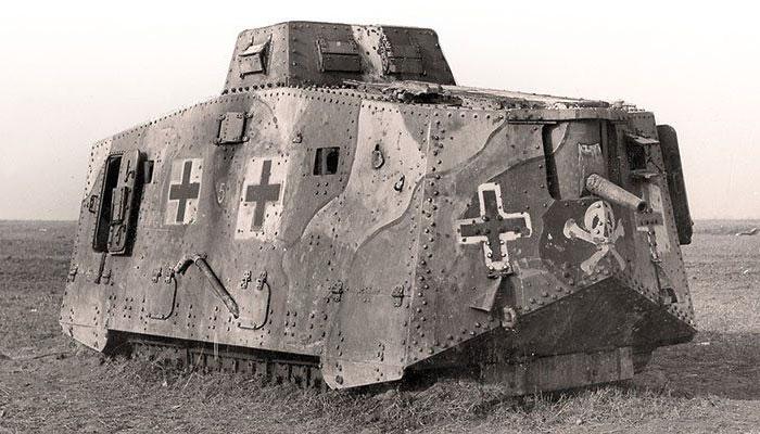 Германский танк A7V.