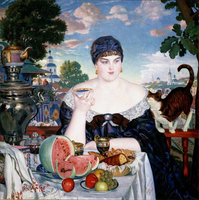 Борис Кустодиев «Купчиха за чаем».
