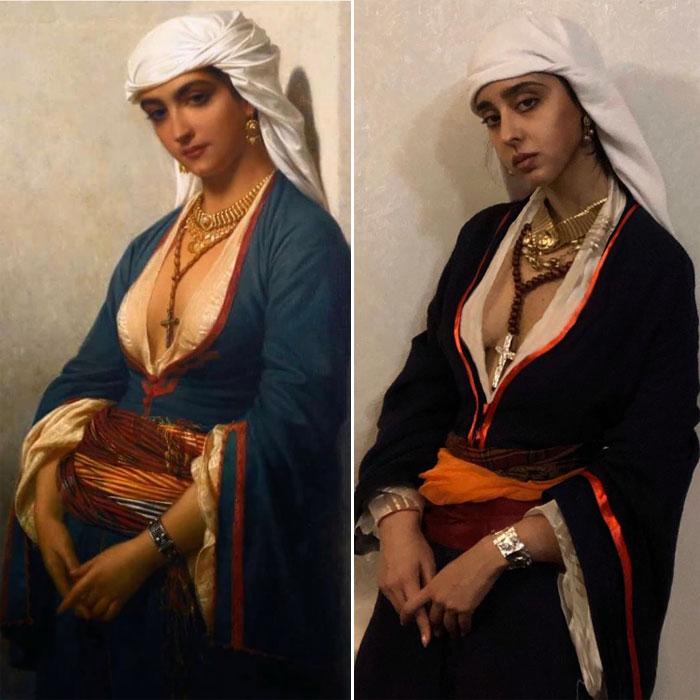 Эмиль Леконт-Верне (Восточные красавицы) «Верная», 1866 / Нана Муштакова.