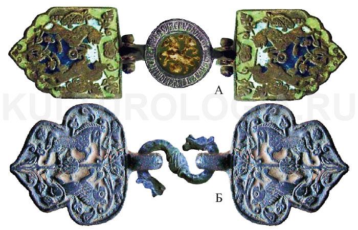Реконструкция пряжек «Лев и Единорог» выполненных в<br>западной традиции.