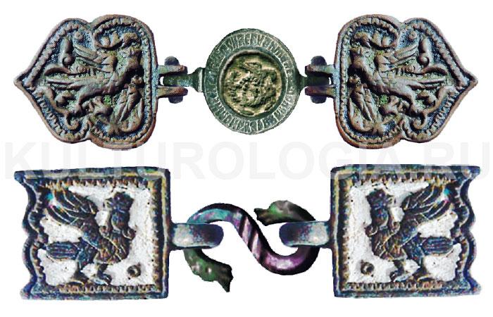 Русские поясные пряжки XVII-XVIII вв. - «Птица Сирин».