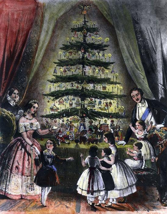 Рождественская ёлка, 1848 год.