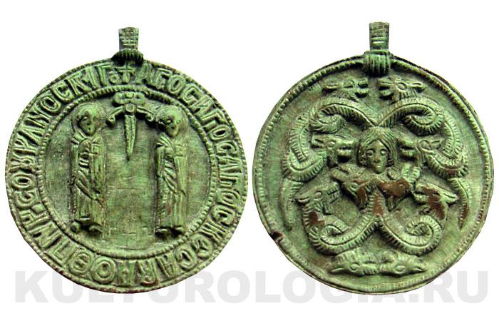 Древнерусская иконка-змеевик 11-13 вв.