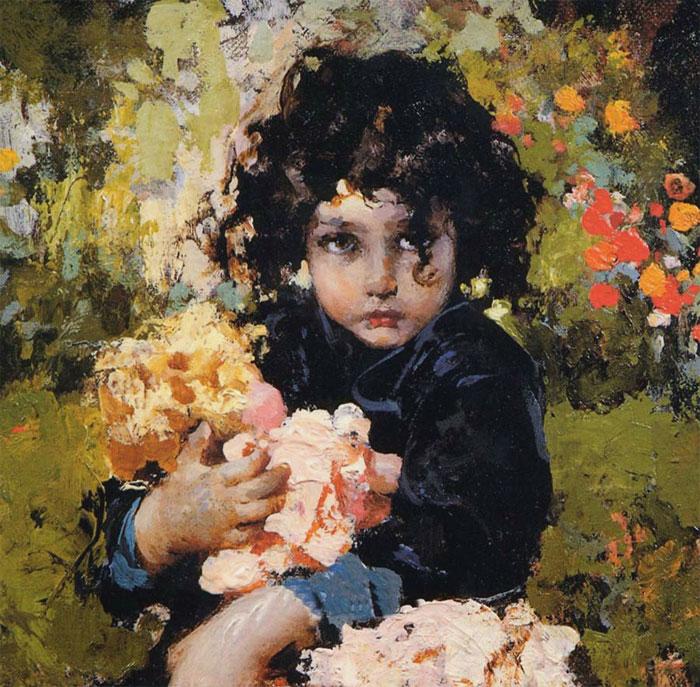 Винченцо Иролли «Девочка с куклой»