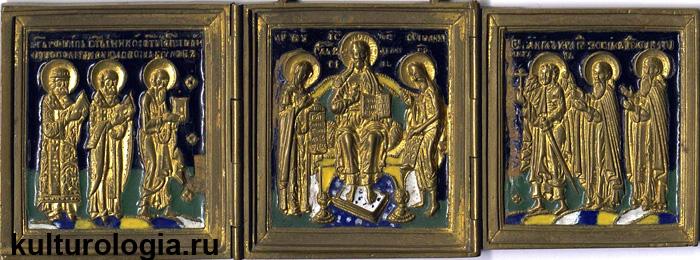 Складень «Девятифигурный Деисус», XIX век.