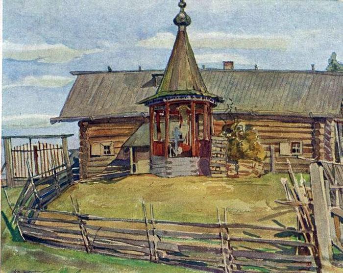 Дом большака в Выговской пустыни.