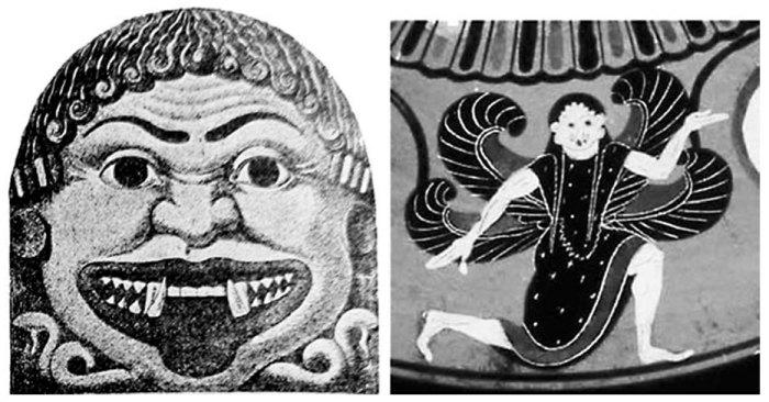 Античные изображения Медузы Горгоны.
