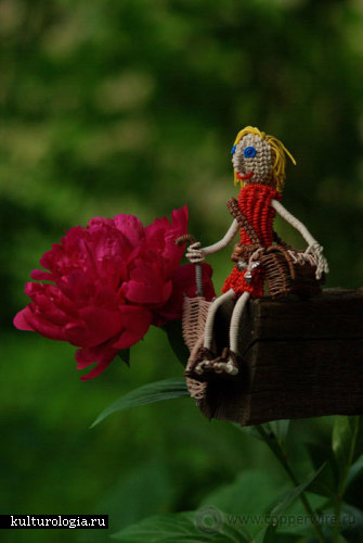 Персонажи из проволоки - Катерина путешественница